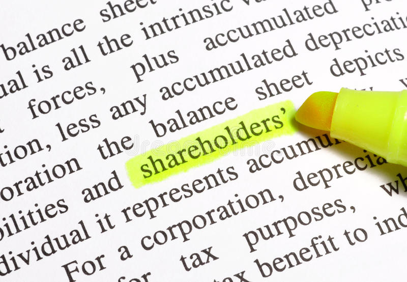 Shareholders stock images