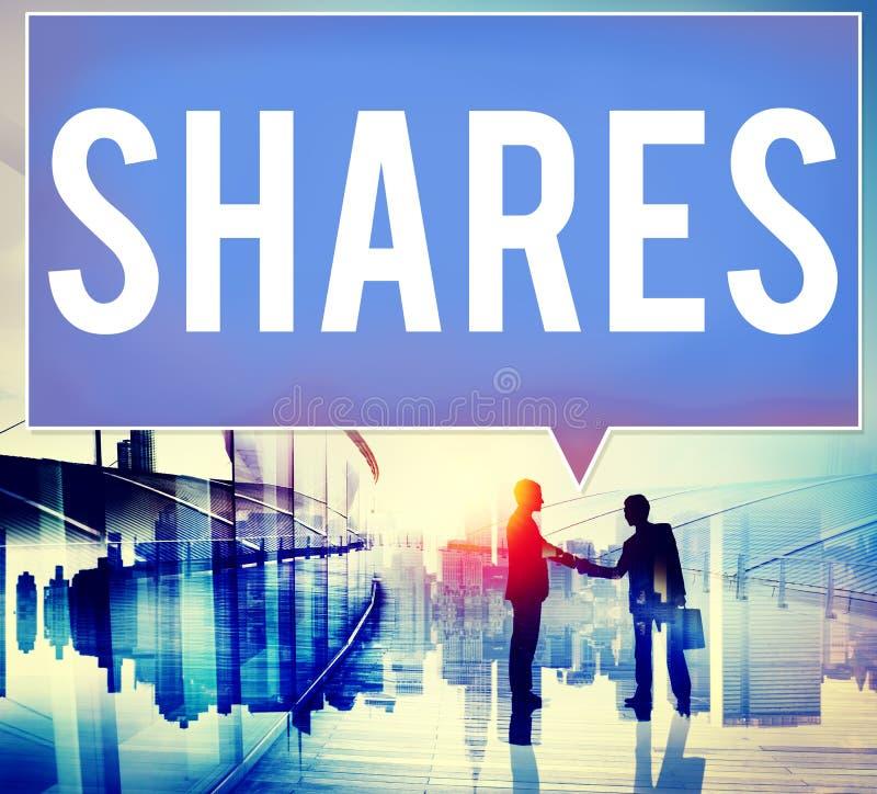 Shares Shareholder Asset Contribution Proportion Concept royalty free illustration