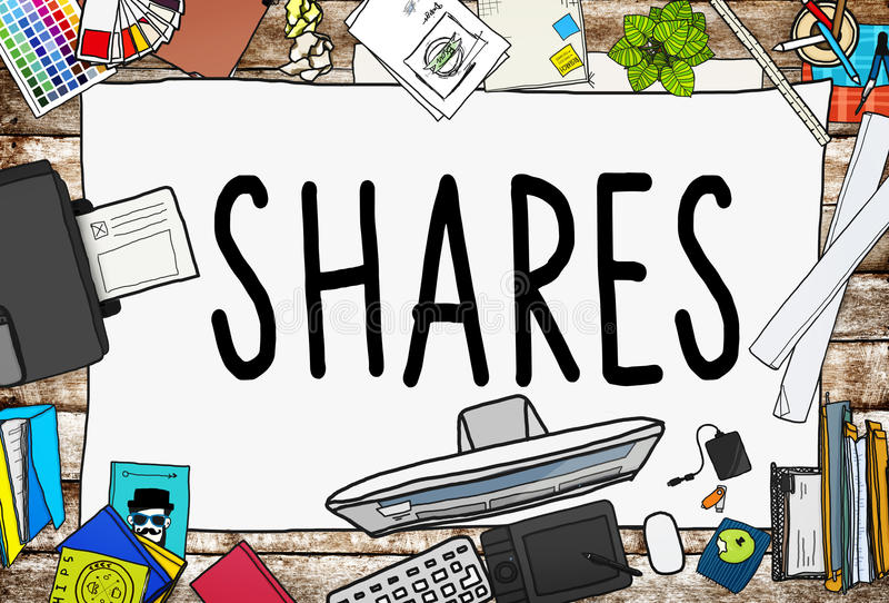 Shares Sharing Help Give Dividend Concept vector illustration