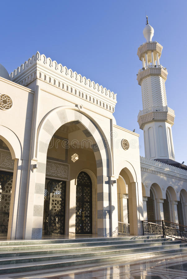 Sharif Hussein Bin Ali moské arkivbild