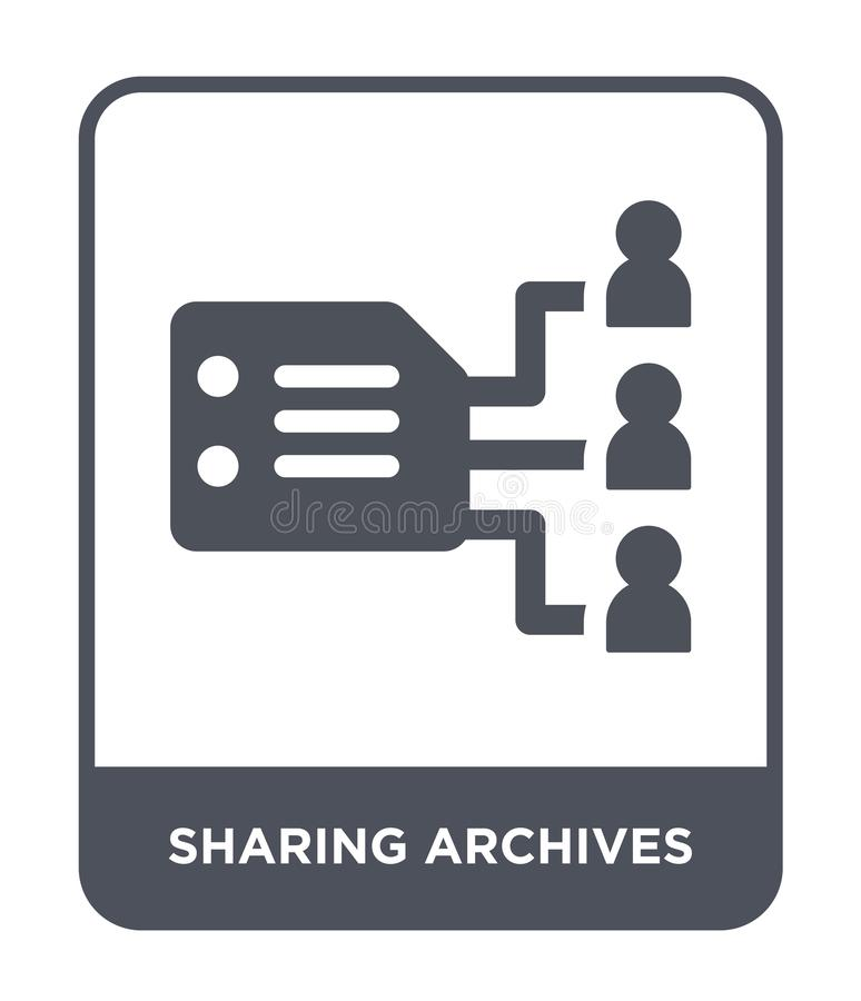 sharing archives icon in trendy design style. sharing archives icon isolated on white background. sharing archives vector icon vector illustration