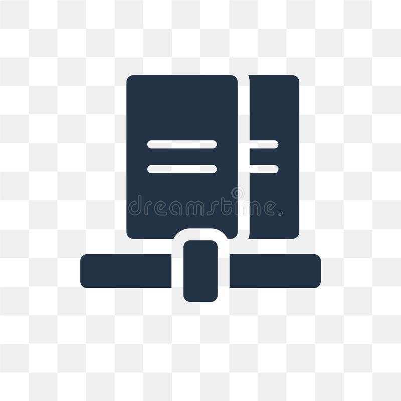 Sharing archives vector icon isolated on transparent background, Sharing archives transparency concept can be used web and mobile royalty free illustration