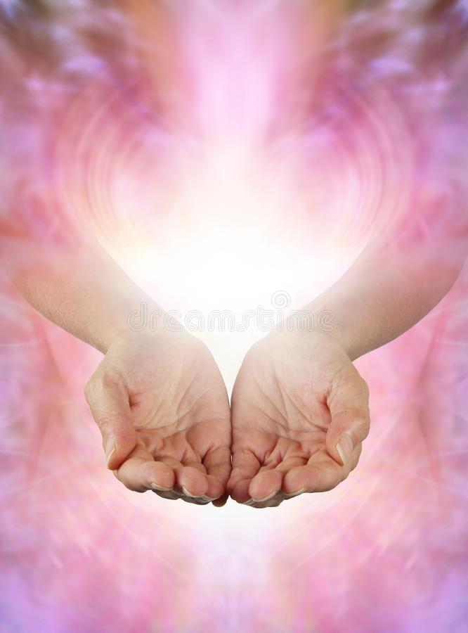 Sharing Beautiful Abundant Healing Energy with You stock photos