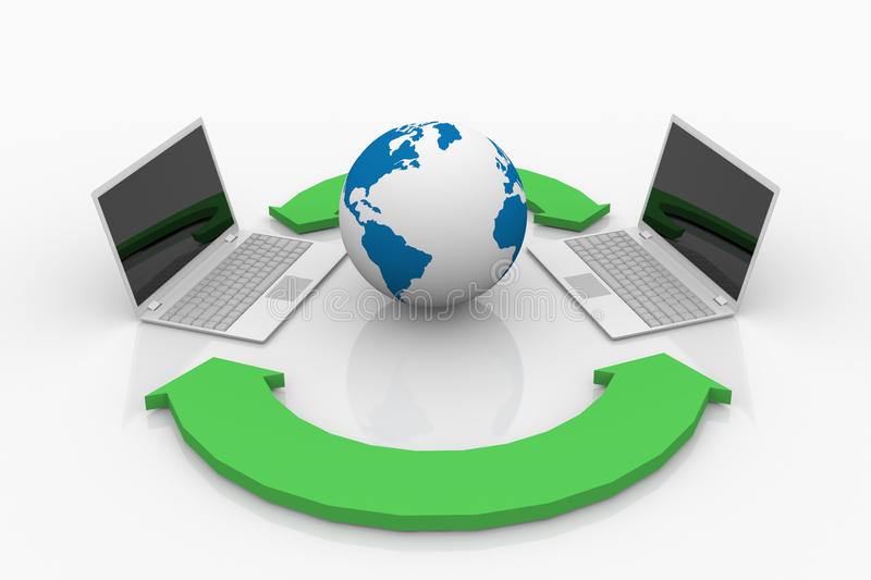 Download Sharing data on computers. stock image. Image of connect - 29000587