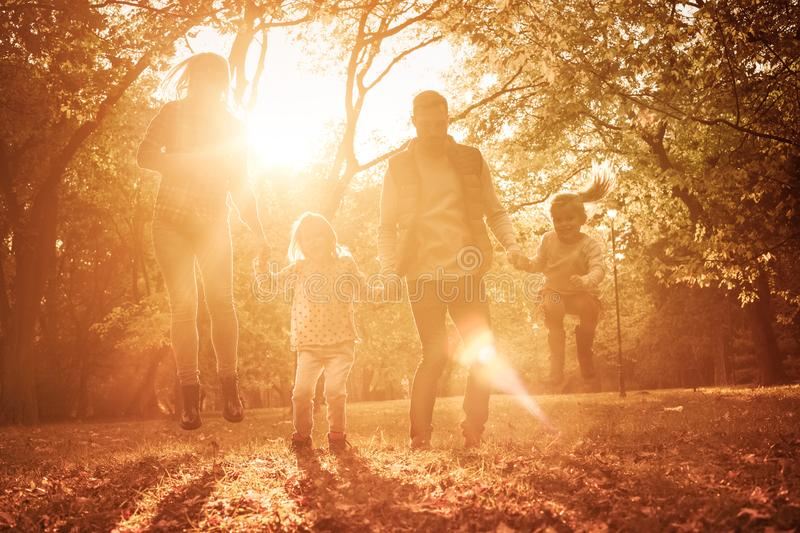 Sharing in a day of family fun. royalty free stock photos