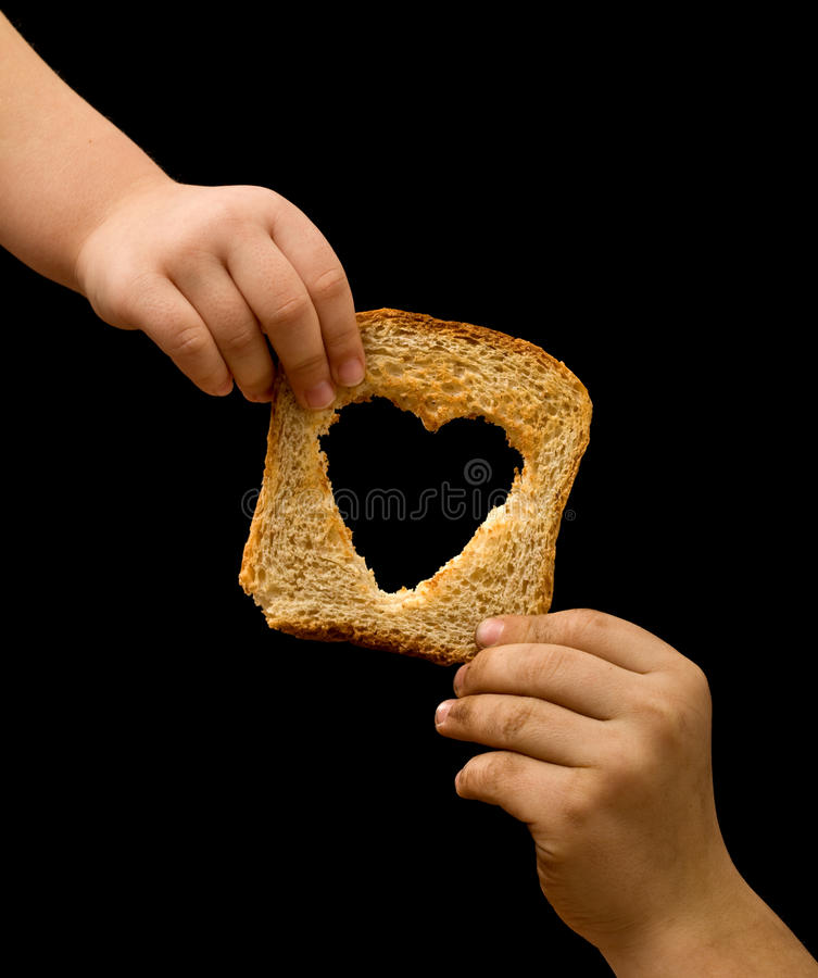 Free Sharing Food With The Needy Royalty Free Stock Photography - 18713207