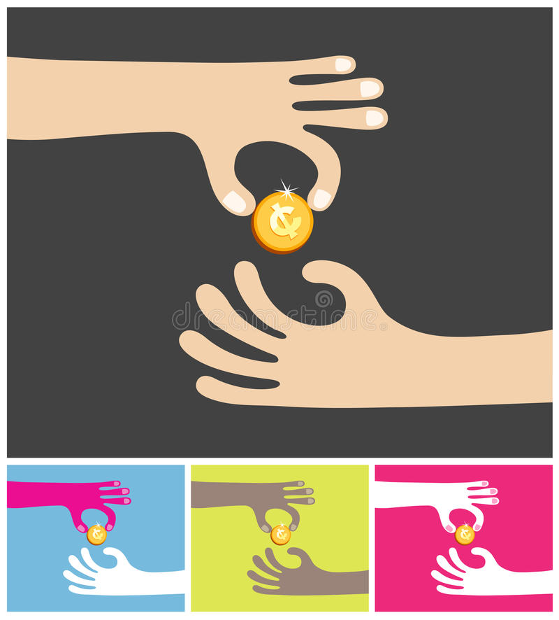 Download Sharing a golden coin stock illustration. Image of golden - 16966894