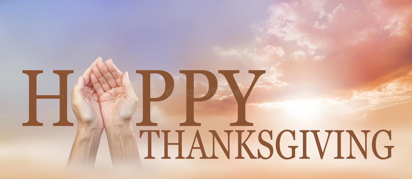Sharing a Happy Thanksgiving royalty free stock photos