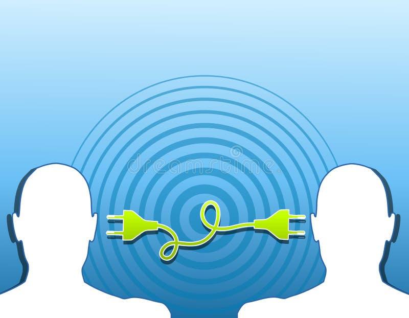 Sharing Ideas Teamwork Connection vector illustration