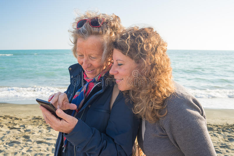 Sharing life moments using wireless technology stock photography