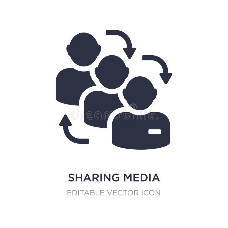 Sharing media icon on white background. Simple element illustration from Shapes concept. Sharing media icon symbol design stock illustration