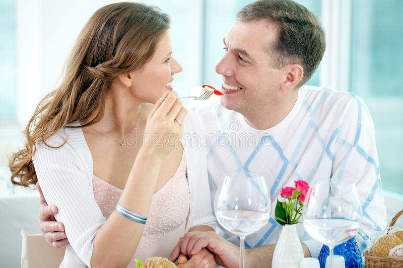 Sharing a portion stock photos