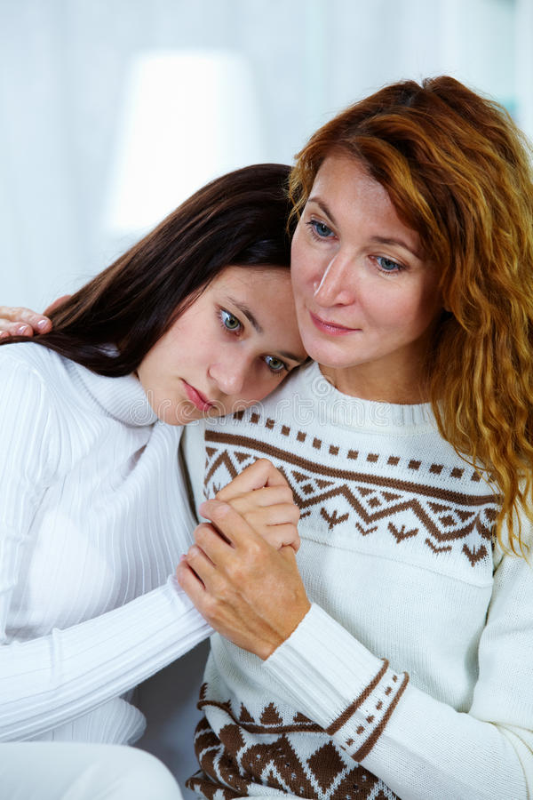 Download Sharing problem stock image. Image of embracing, adorable - 24054743