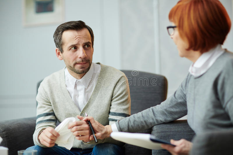 Sharing problems royalty free stock photo