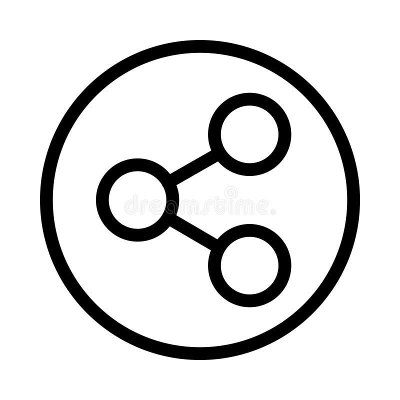 Sharing thin line vector icon stock illustration