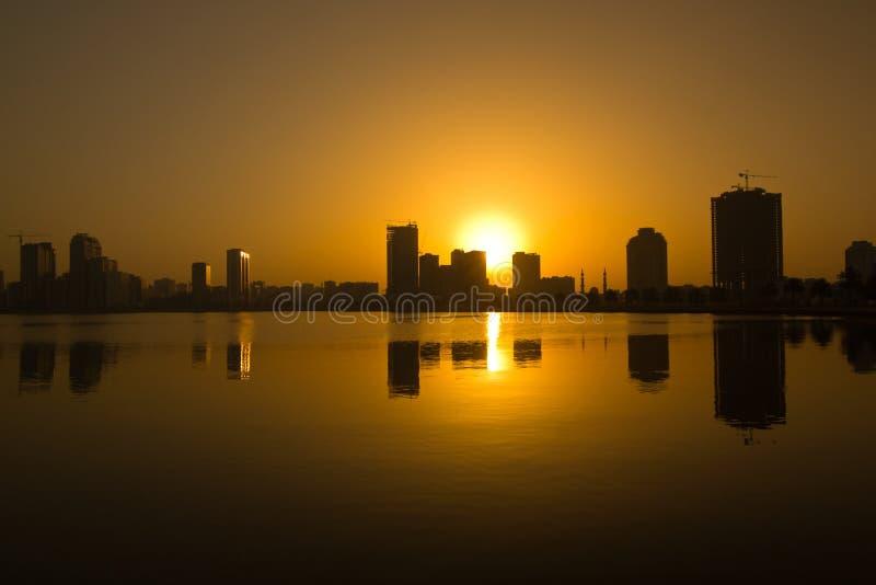 Sharjah corniche. Sharjah, united arab emirates royalty free stock images