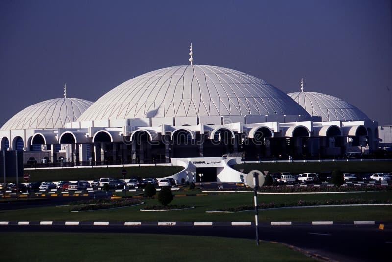 Sharjah internationell flygplats royaltyfri fotografi
