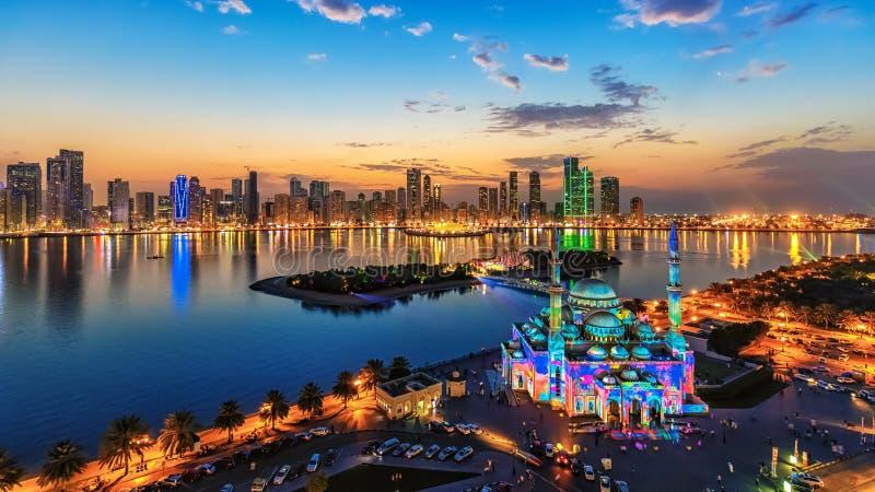 Sharjah ljusfestival royaltyfria bilder