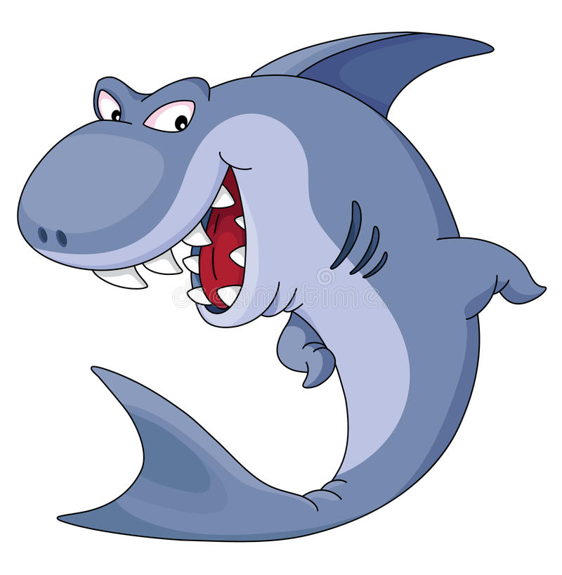 Shark. An illustration of funny blue shark