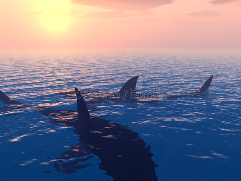 Download Shark stock illustration. Image of predator, snorkel, hunter - 1638706