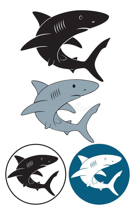 Download Shark stock vector. Illustration of bite, fish, grey - 26131591