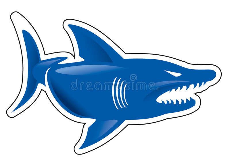 Download Shark stock vector. Image of agression, fish, emblem, ocean - 6657499