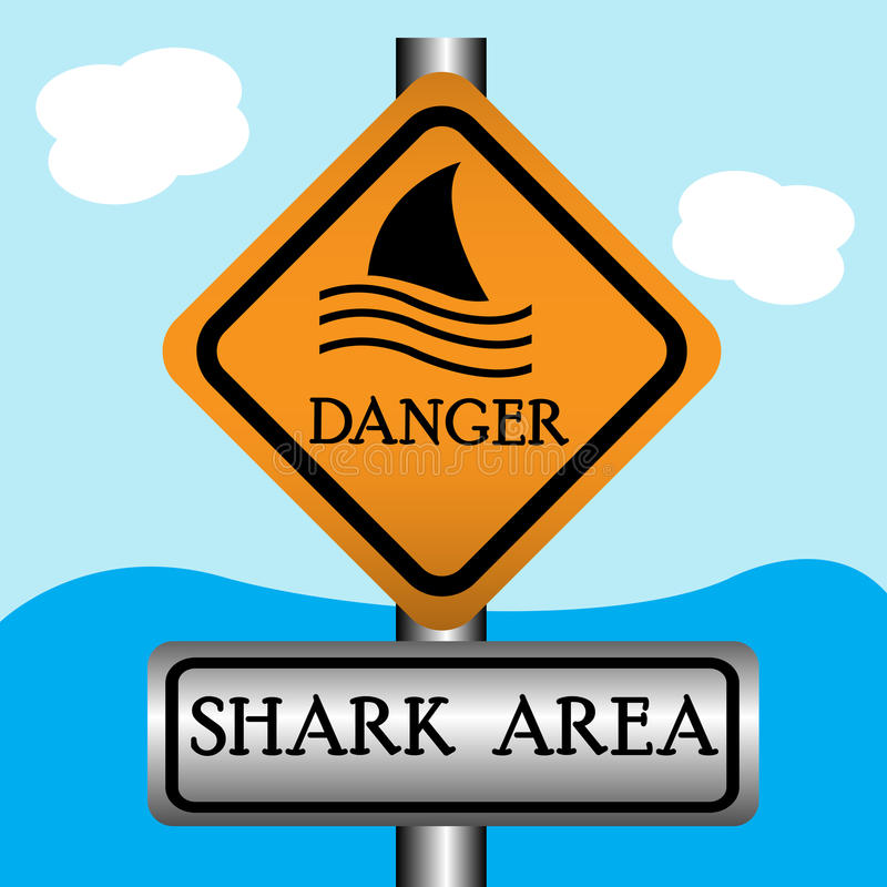 Shark area sign royalty free illustration
