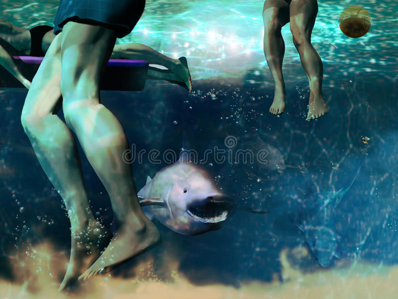 Download Shark attack stock illustration. Image of play, attack - 17893665