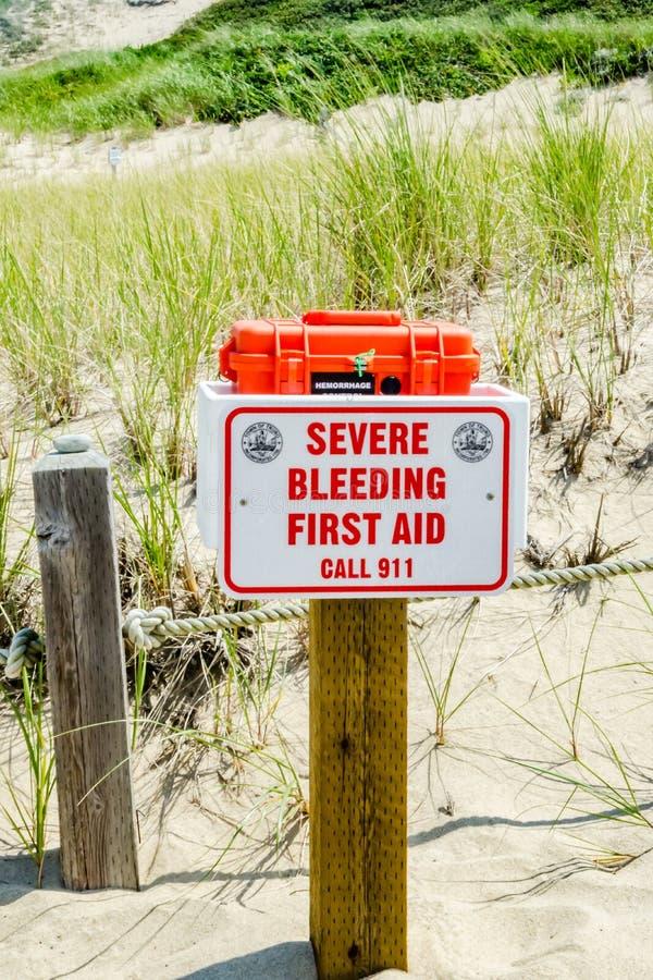 Shark Attack Severe Bleeding First Aid Kit royalty free stock photos