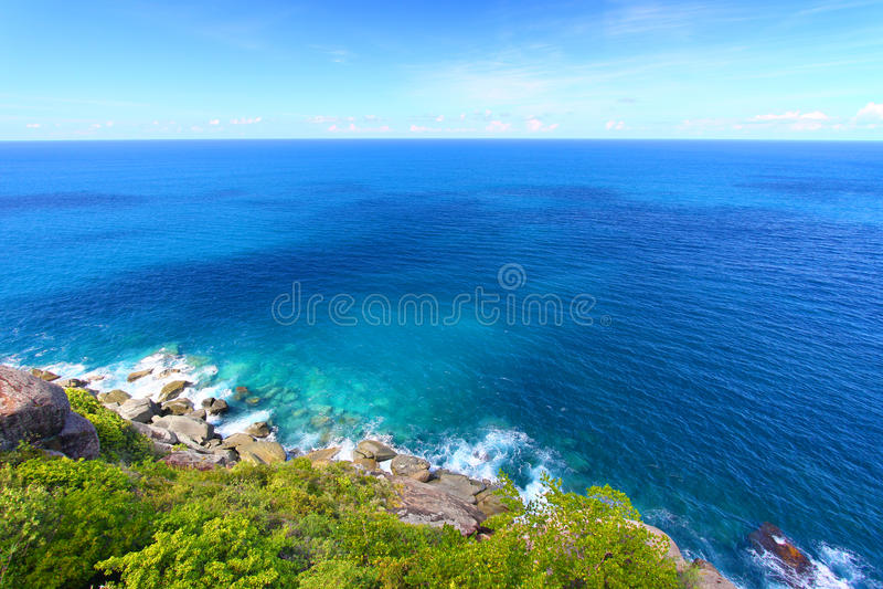 Shark Bay National Park Virgin Islands. View of the beautiful Shark Bay National Park of Tortola - British Virgin Islands stock image