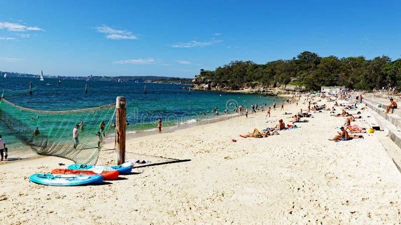 Shark Beach, Nielsen Park, Vaucluse, Sydney, Australia. Yellow sand Sydney Harbour Shark Beach, at Nielsen Park, Vaucluse, Sydney, NSW, Australia. Shark Beach is royalty free stock image