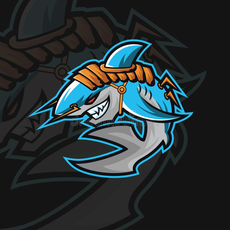 Shark e sport logo stock photography