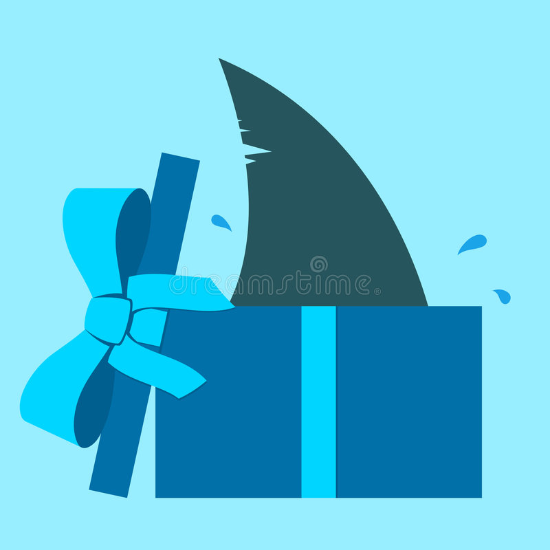 Shark fin in gift box