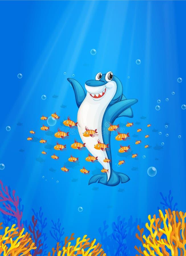 Download Shark fish stock illustration. Illustration of fishes - 25426810