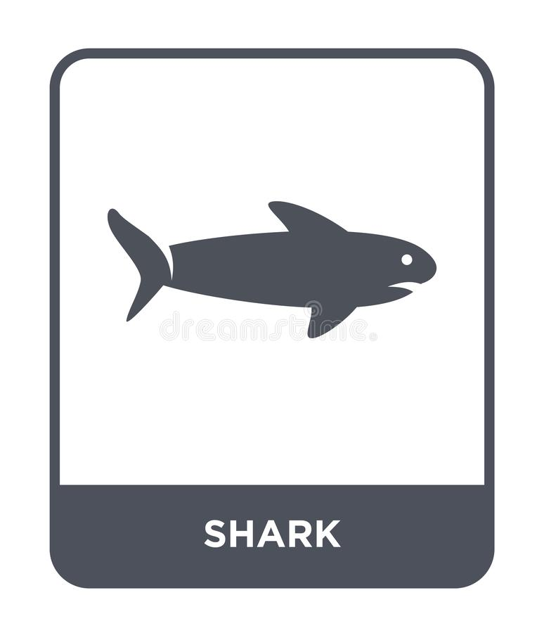 shark icon in trendy design style. shark icon isolated on white background. shark vector icon simple and modern flat symbol for stock illustration