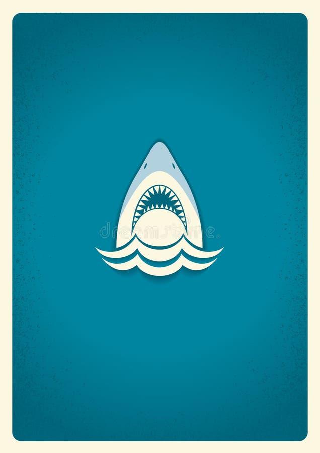 shark jaws logovector blue symbol illustration stock