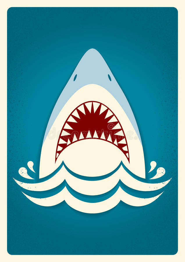 shark jawsvector background illustration stock vector