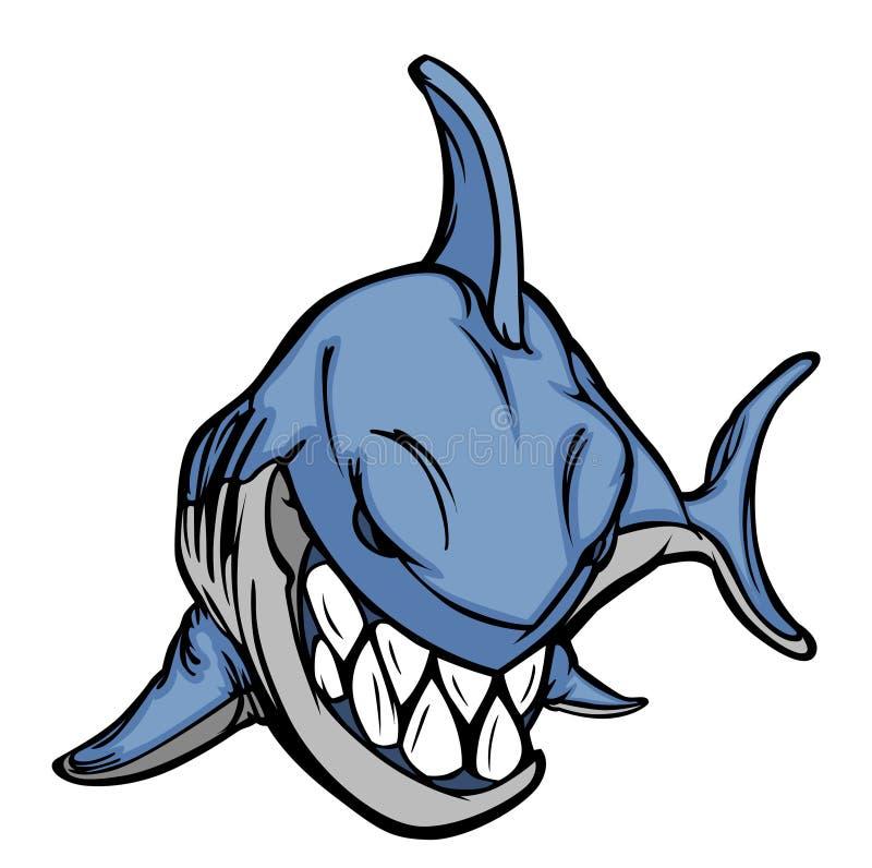 Download Shark Mascot Logo stock vector. Image of head, team, sharks - 19223375