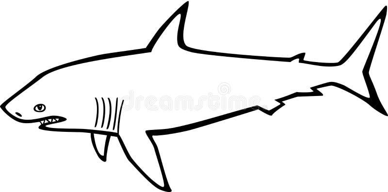Outline Drawing Of A Shark Shark Outline - Shark Outline Picture ...