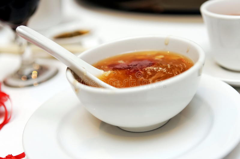 Shark's fin soup stock images