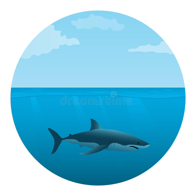 Download Shark in the sea stock vector. Image of backdrop, cover - 18805015