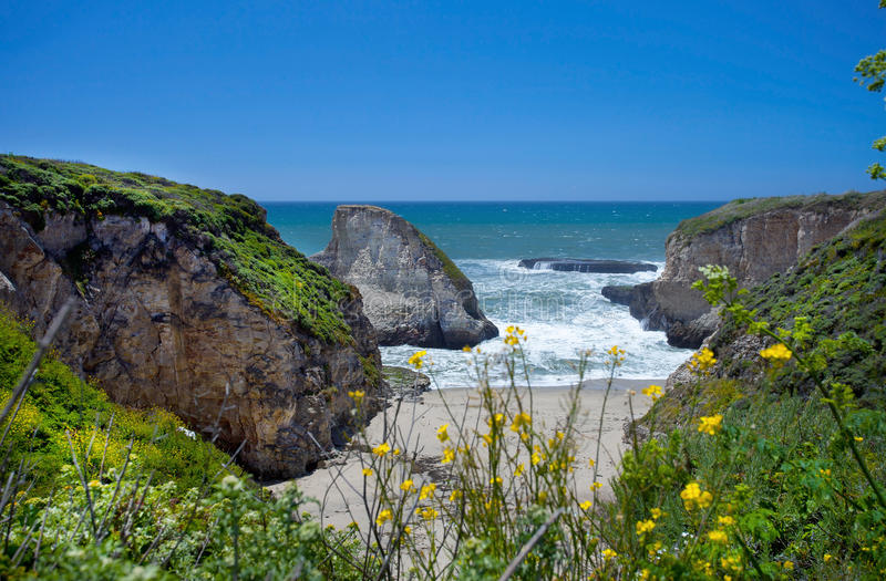 Shark Tooth Cove stock image