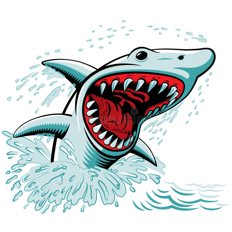 The Shark royalty free illustration