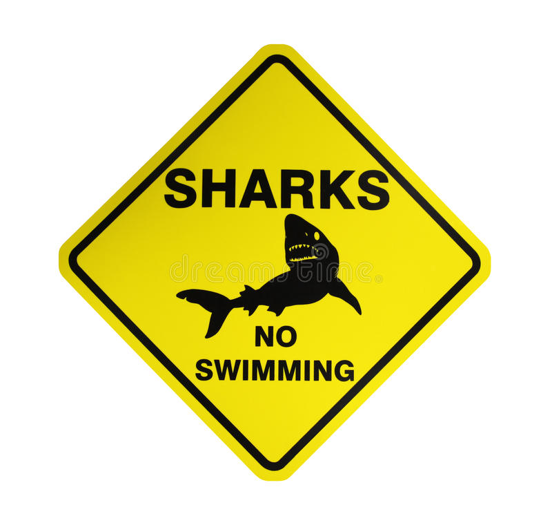 Free Sharks - Warning Sign Royalty Free Stock Photography - 18377827
