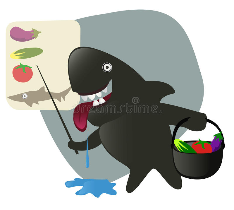 Download Sharky Shark Collecting Ingredients For The Lunch. Royalty Free Stock Photos - Image: 9553858