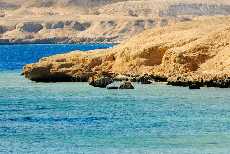 Sharm el sheikh coast royalty free stock photo