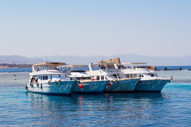 Sharm El Sheikh. Coastline near Sharm El Sheikh and Tiran Island Egypt royalty free stock images