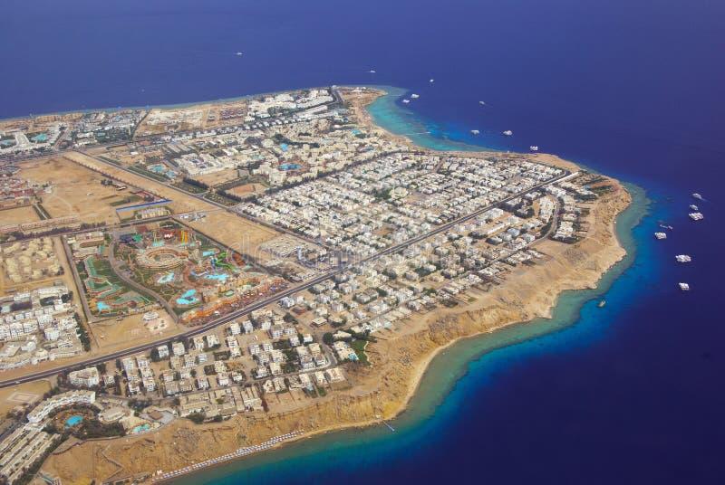Sharm El Sheikh da sopra fotografie stock