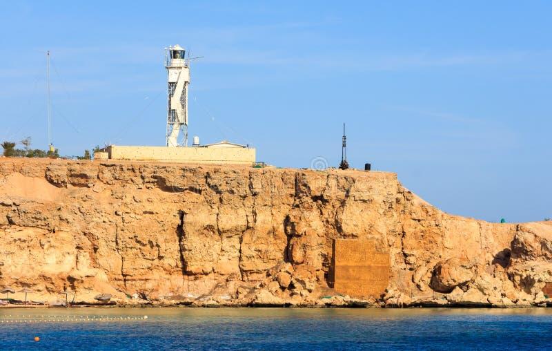 Sharm el Sheikh do farol fotografia de stock