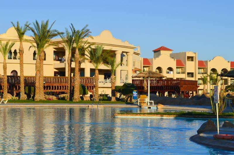 Sharm El Sheikh, Egipto A vista do hotel de luxo Tirana imagem de stock royalty free